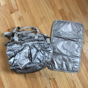 LeSportsac metallic diaper baby bag
